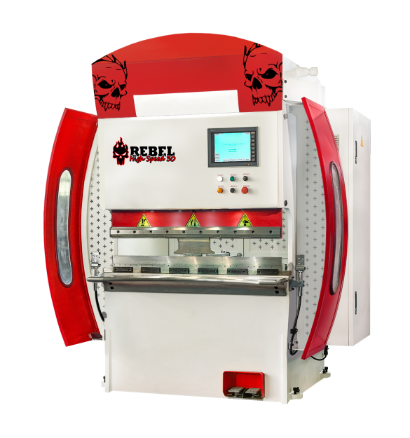 press brake high speed Rebel 30 red white skull